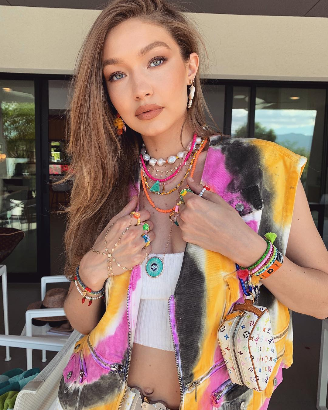 gigi hadid coachella beauty