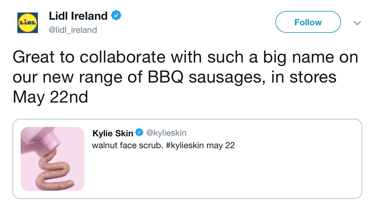 Lidl funny twitter kylie skin