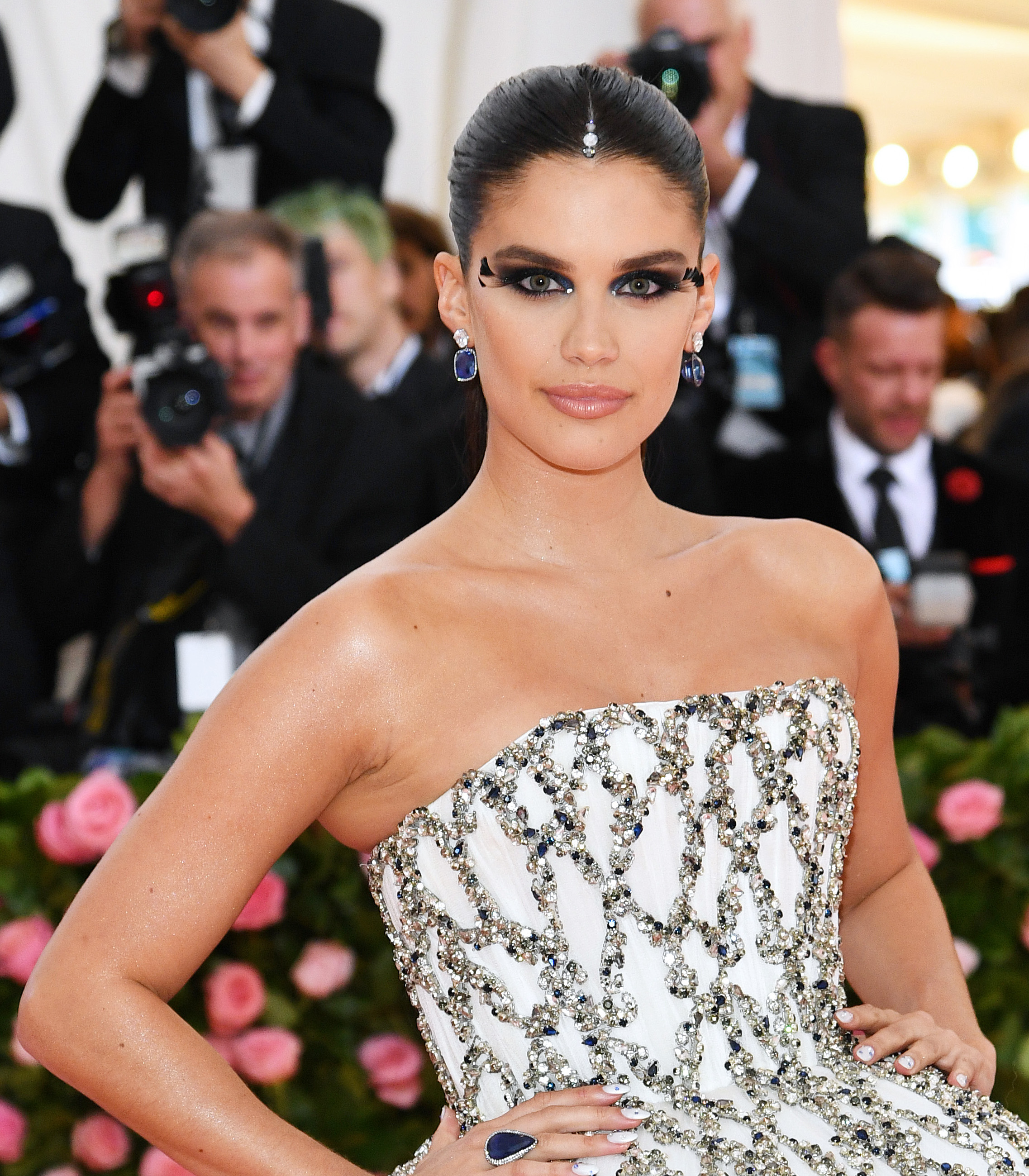 Met gala 2019 beauty sara sampaio