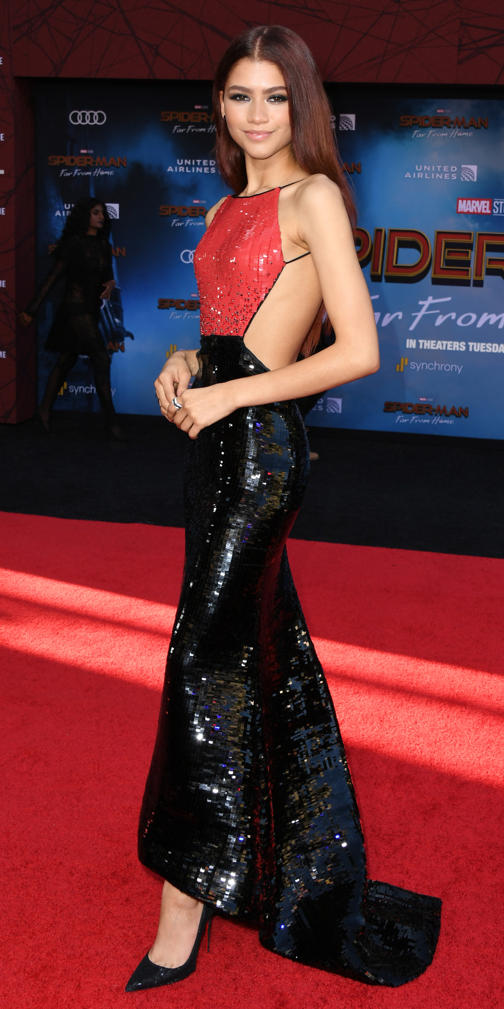 "HOLLYWOOD, CALIFORNIA - JUNE 26: Zendaya attends the Premiere Of Sony Pictures' ""Spider-Man Far From Home"" at TCL Chinese Theatre on June 26, 2019 in Hollywood, California. (Photo by Jon Kopaloff/FilmMagic)"