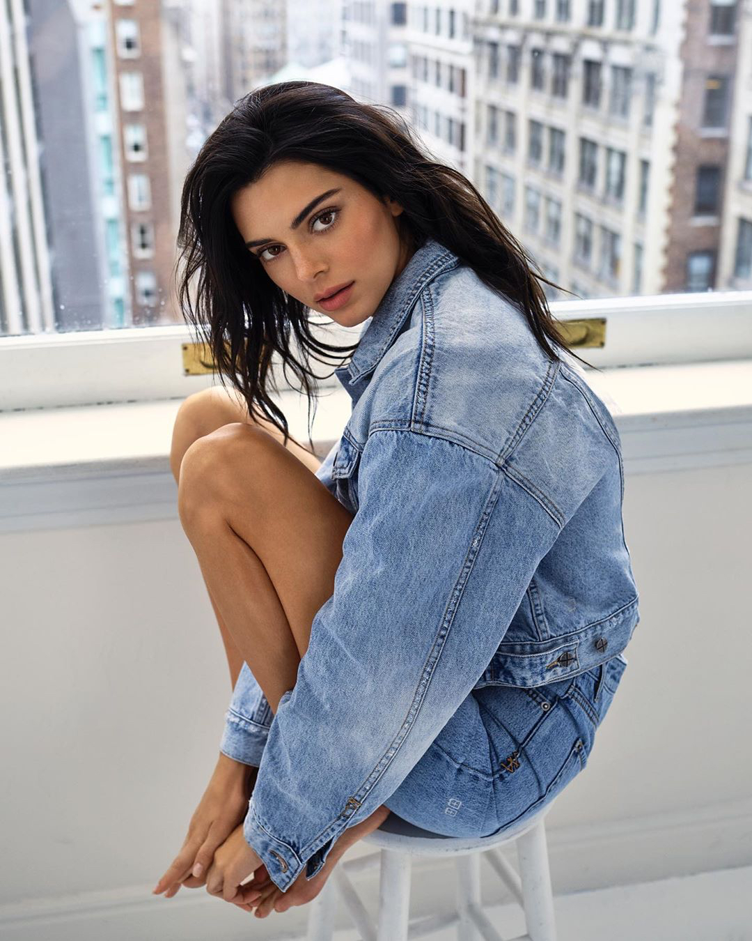 Kendall Jenner denim icon