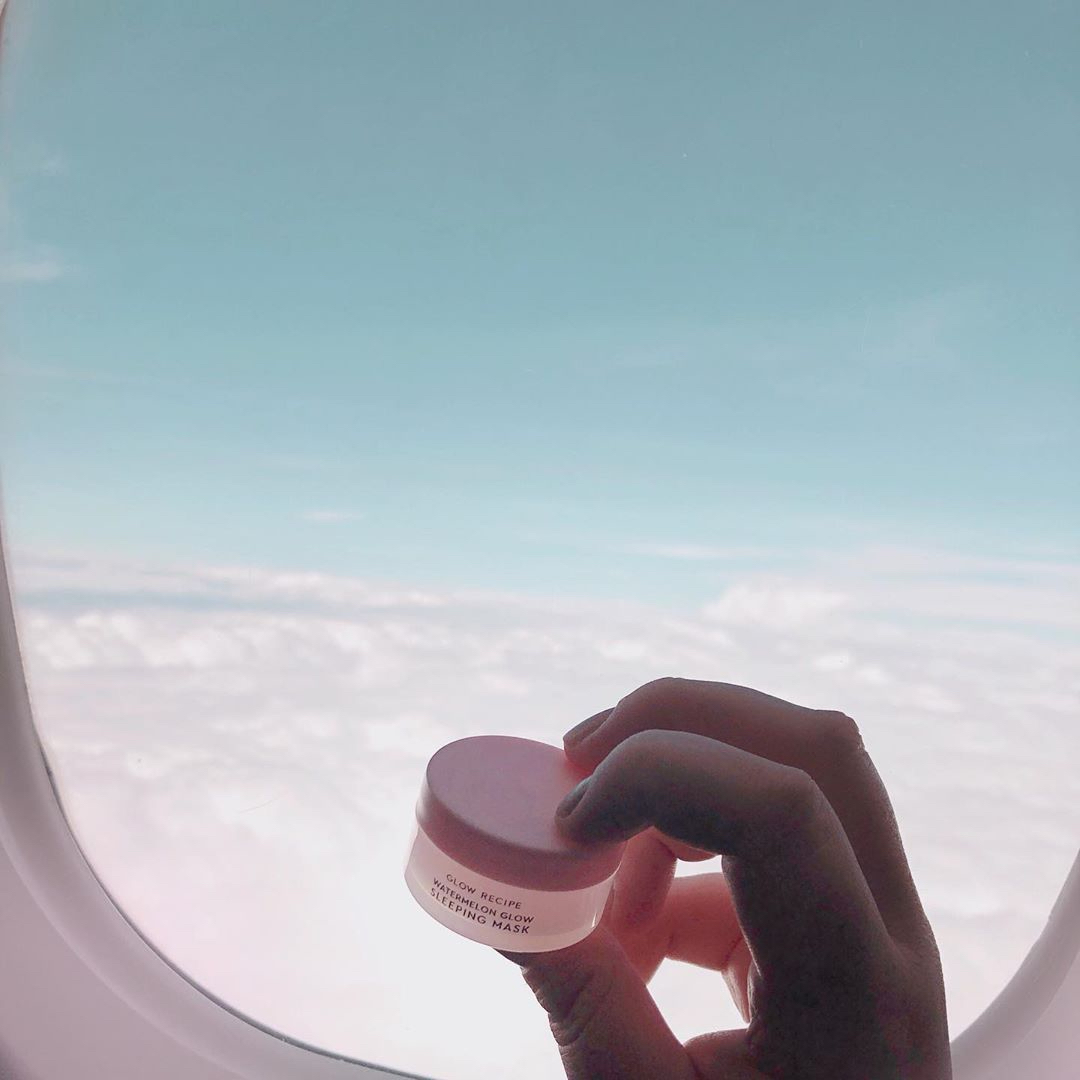 glow recipe water melon sleeping mask inflight beauty