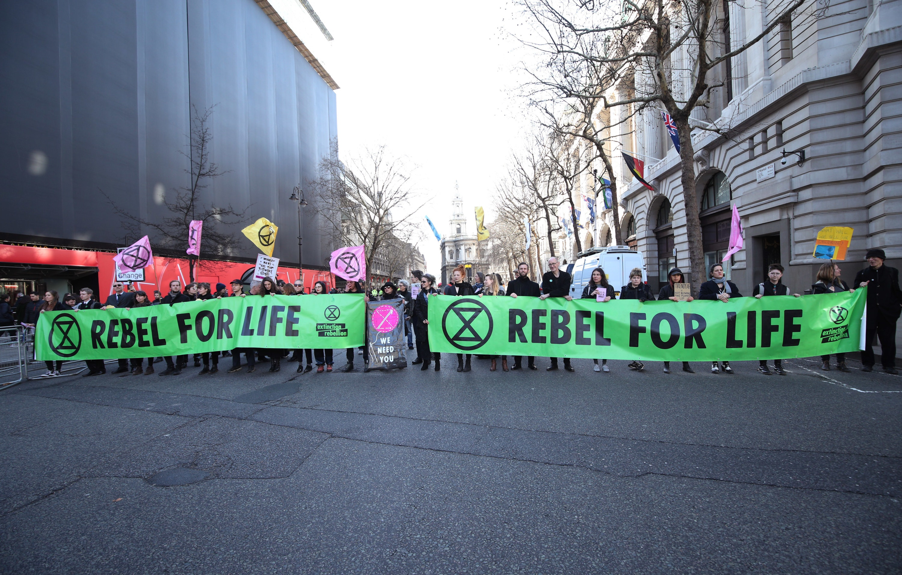 Exctinction rebellion protest