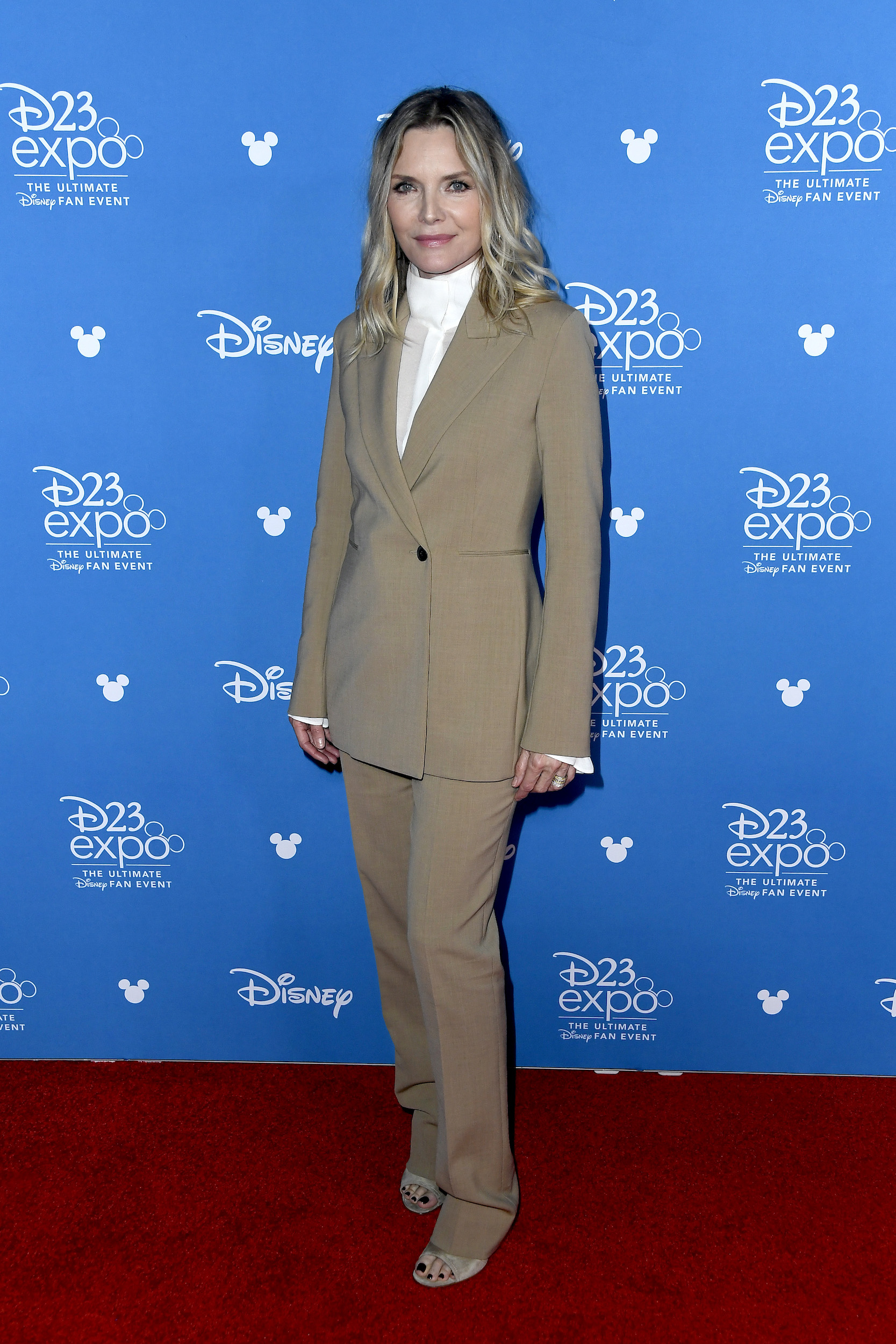 ANAHEIM, CALIFORNIA - AUGUST 24: Michelle Pfeiffer attends Go Behind The Scenes with Walt Disney Studios during D23 Expo 2019 at Anaheim Convention Center on August 24, 2019 in Anaheim, California. (Photo by Frazer Harrison/Getty Images)