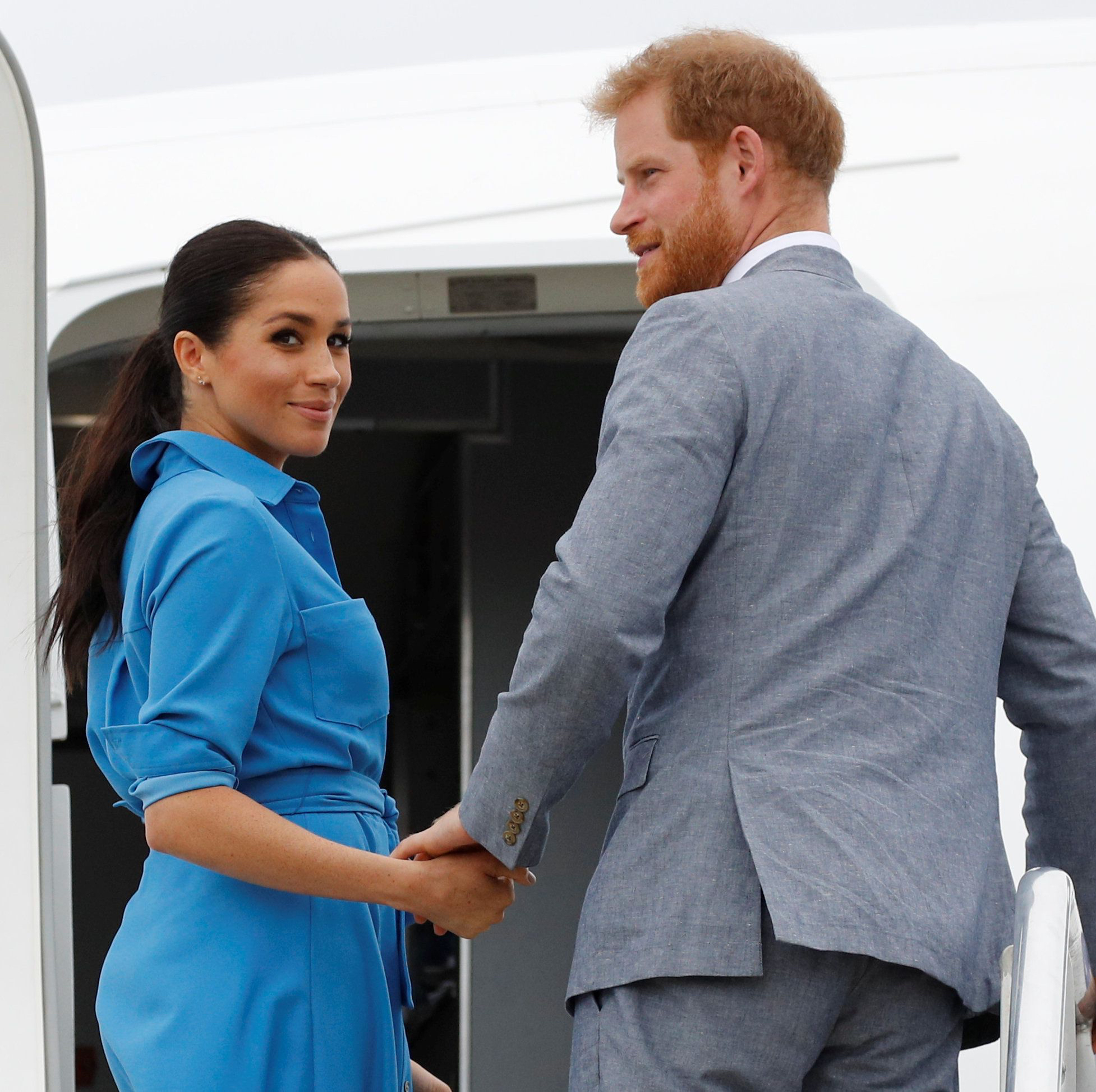 Meghan Markle Prince Harry plane