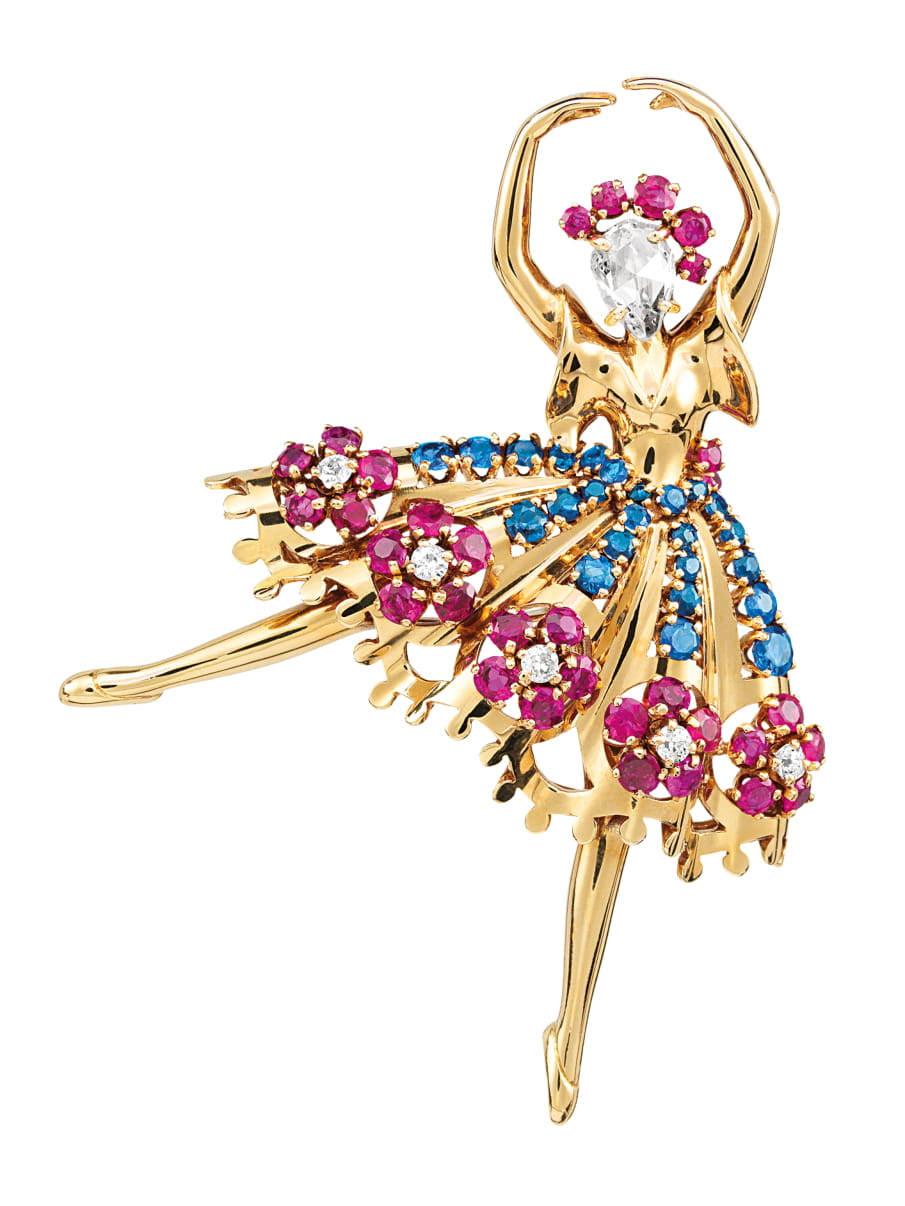 Van Cleef & Arpels 'Delicate Dancers' jewelry brooch