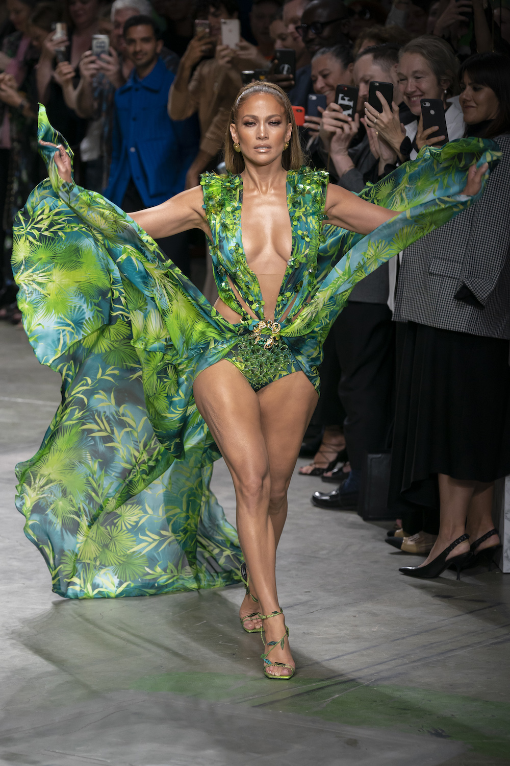 Versace Serves the Most Iconic Moment of Fashion Month, Courtesy of JLo
