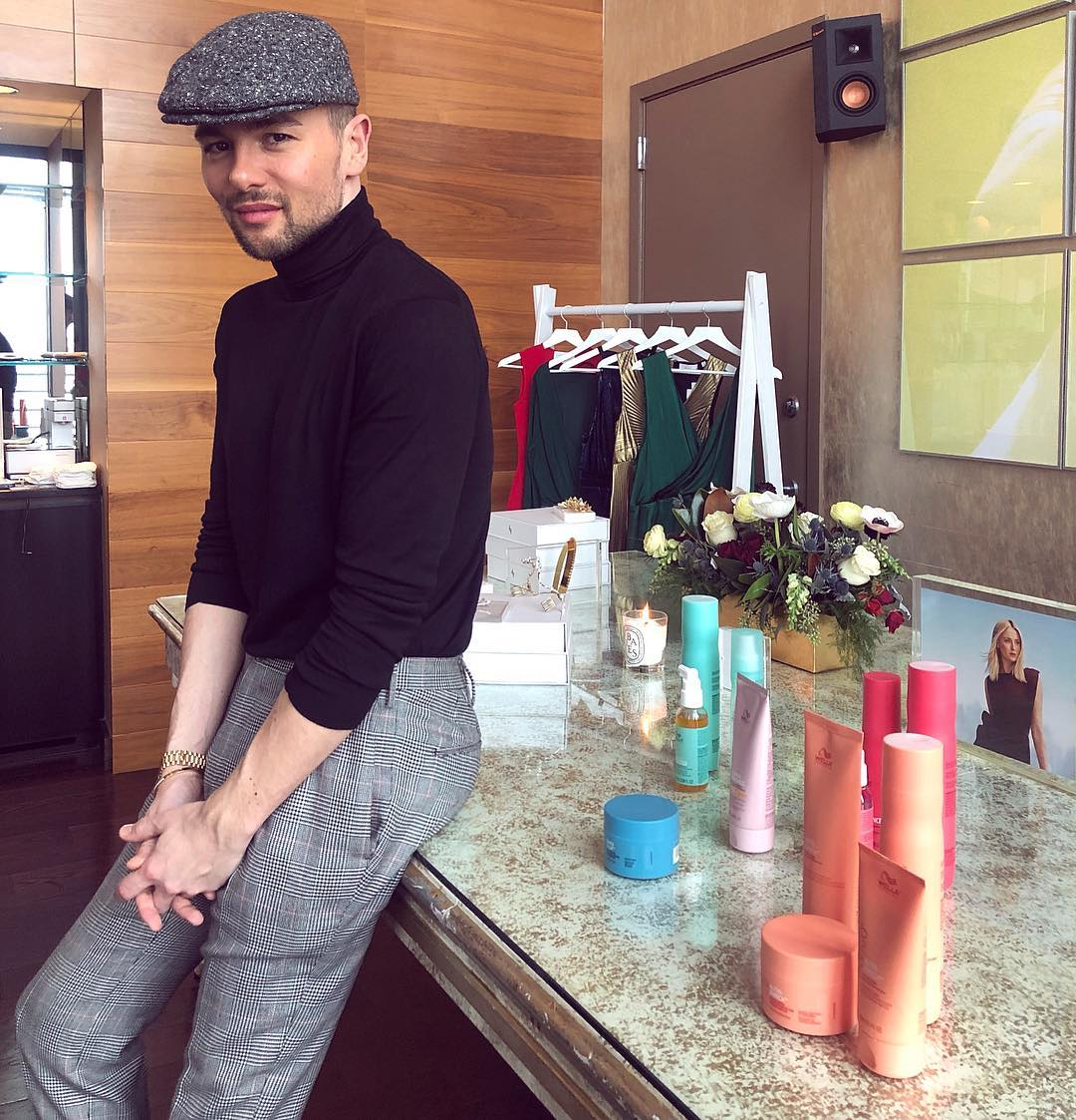 christian wood morning routine wella
