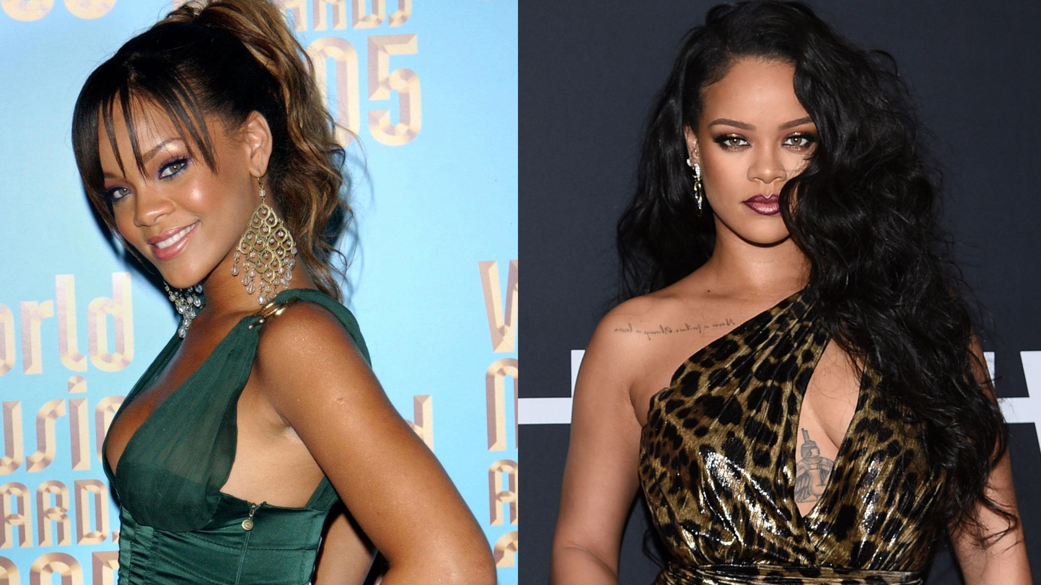 Rihanna then and now