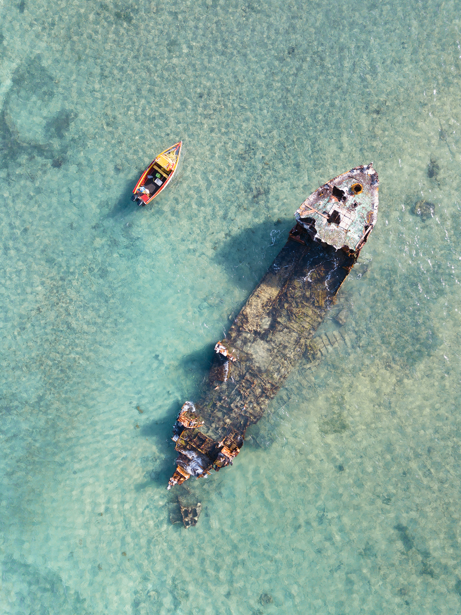 Shipwreck off Malmok Beach, Aruba