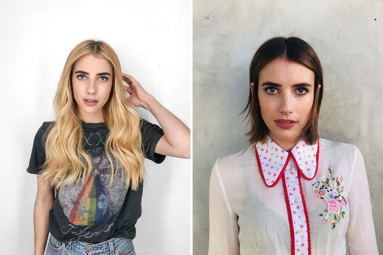celebrity Hair Transformations 2019 emma roberts