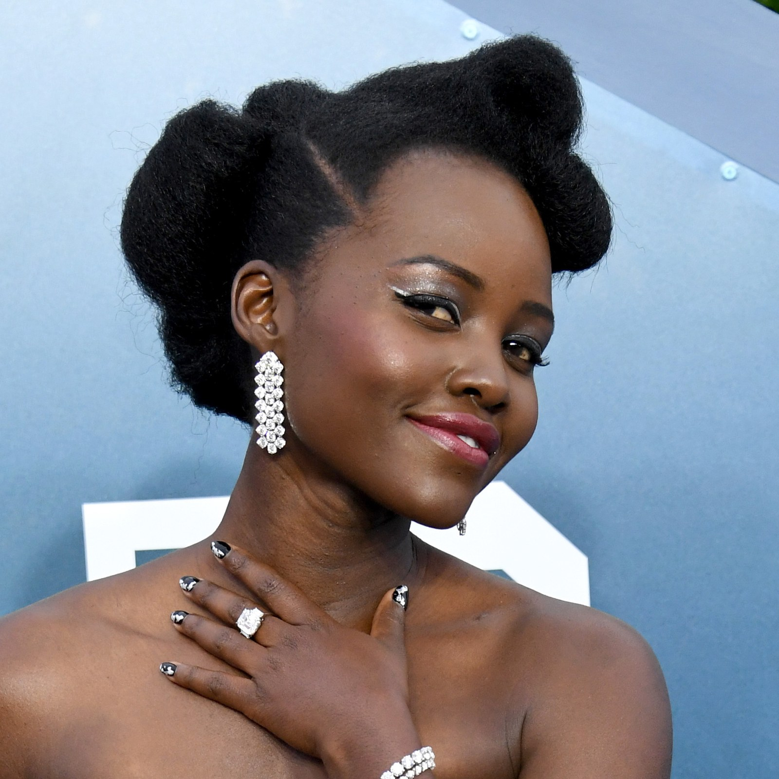 SAG Awards 2020 beauty Lupita Nyong'o