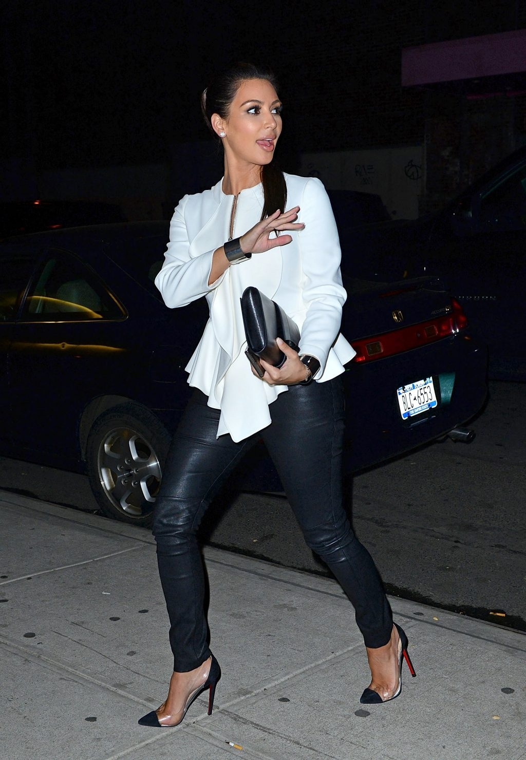 Leather Trousers? Take a Cue from Kim Kardashian, Of Course