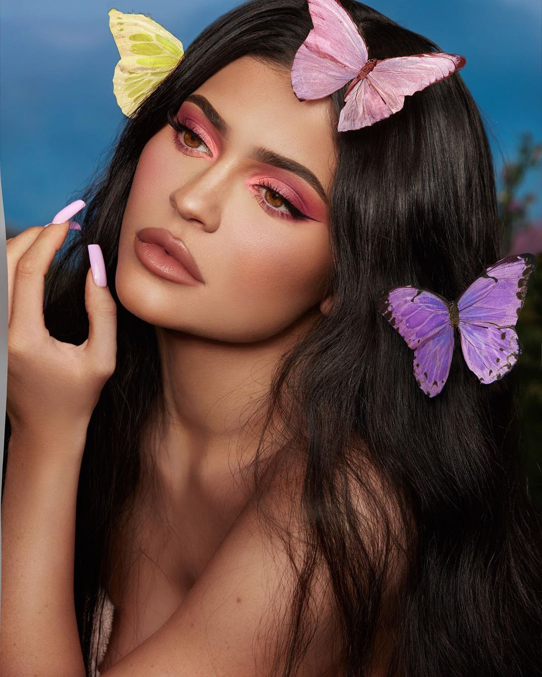 Kylie Jenner butterfly filter