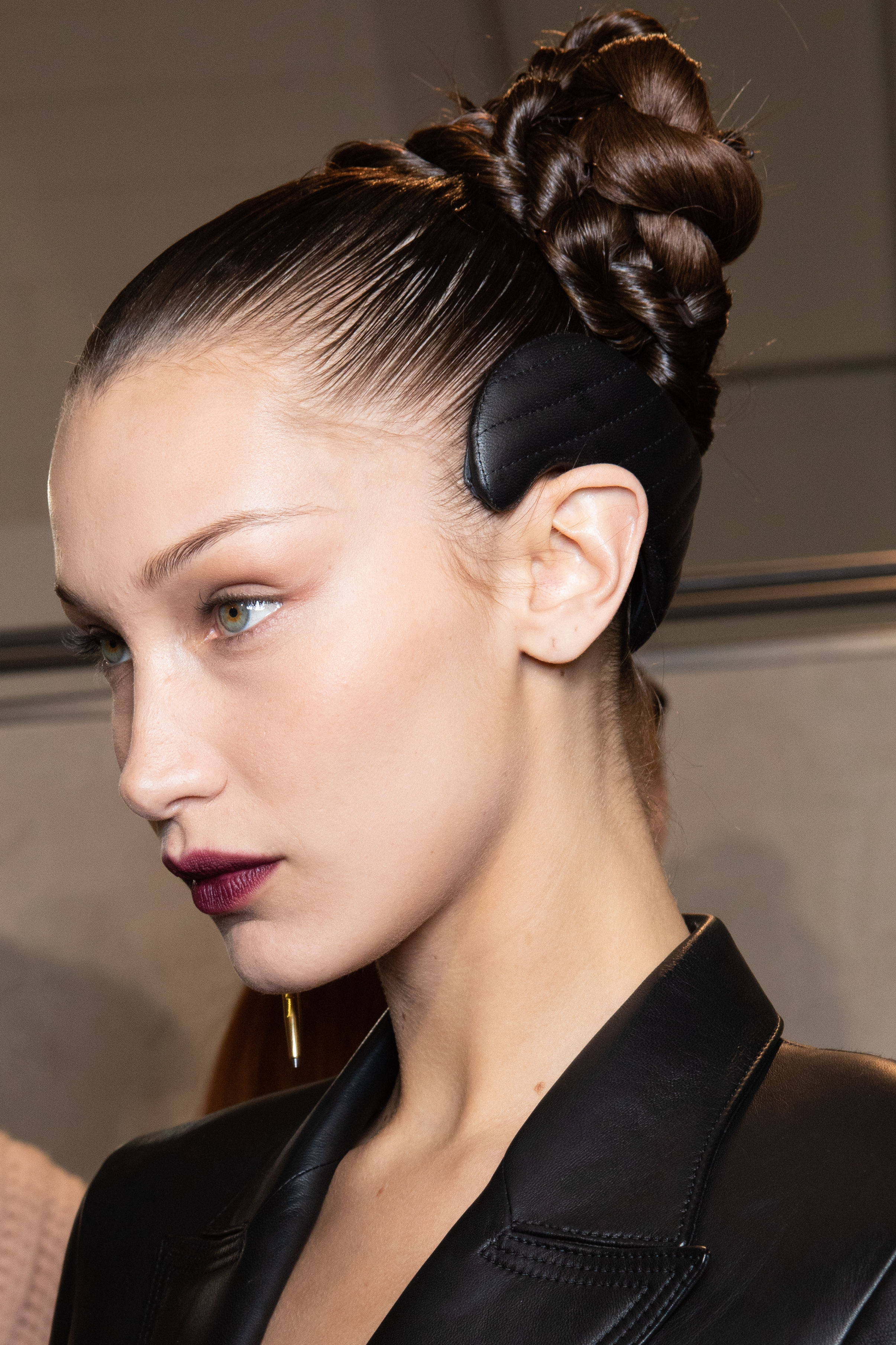 milan fashion week beauty fendi bella hadid