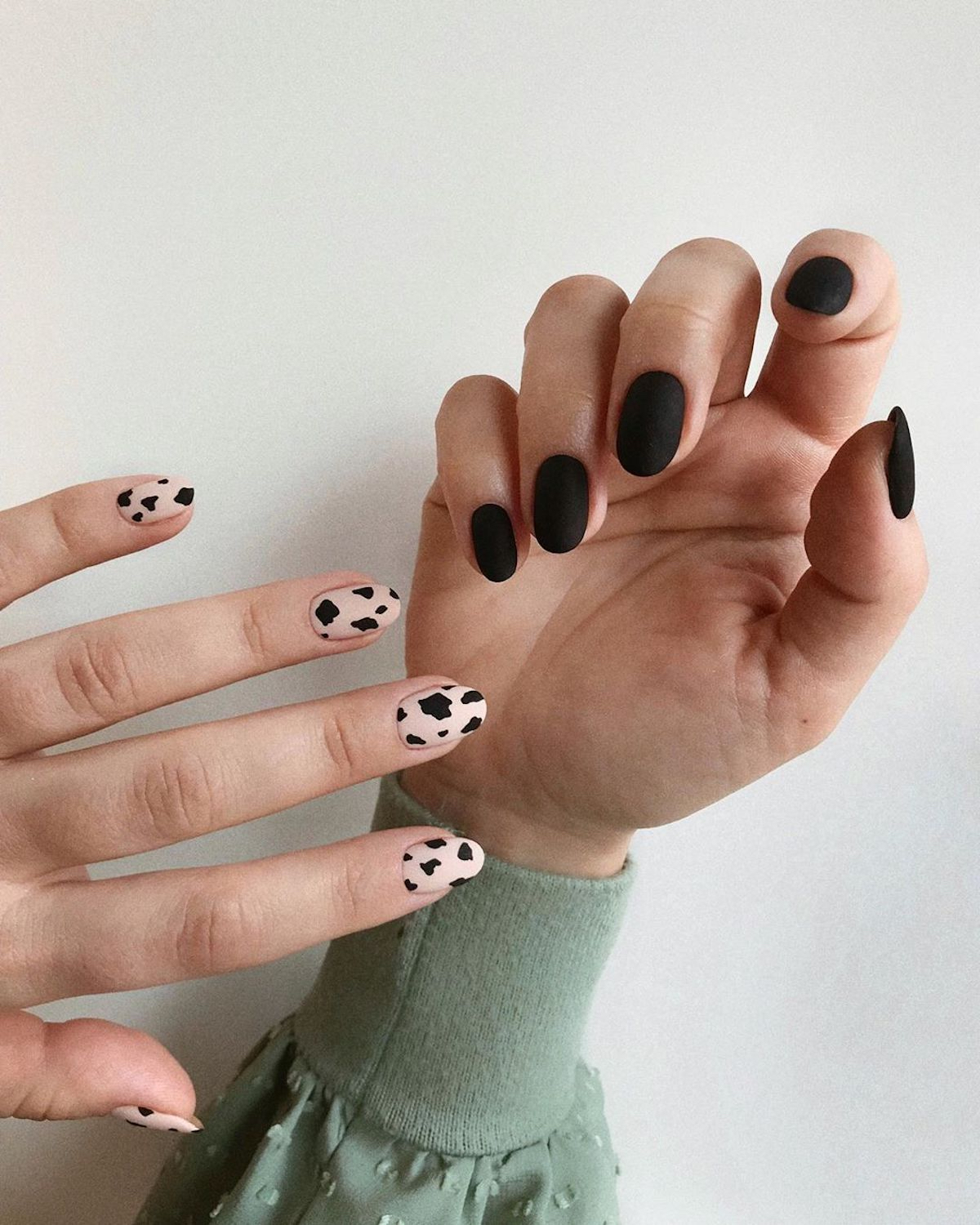 Nail Art Trends - Cow Print Manicure