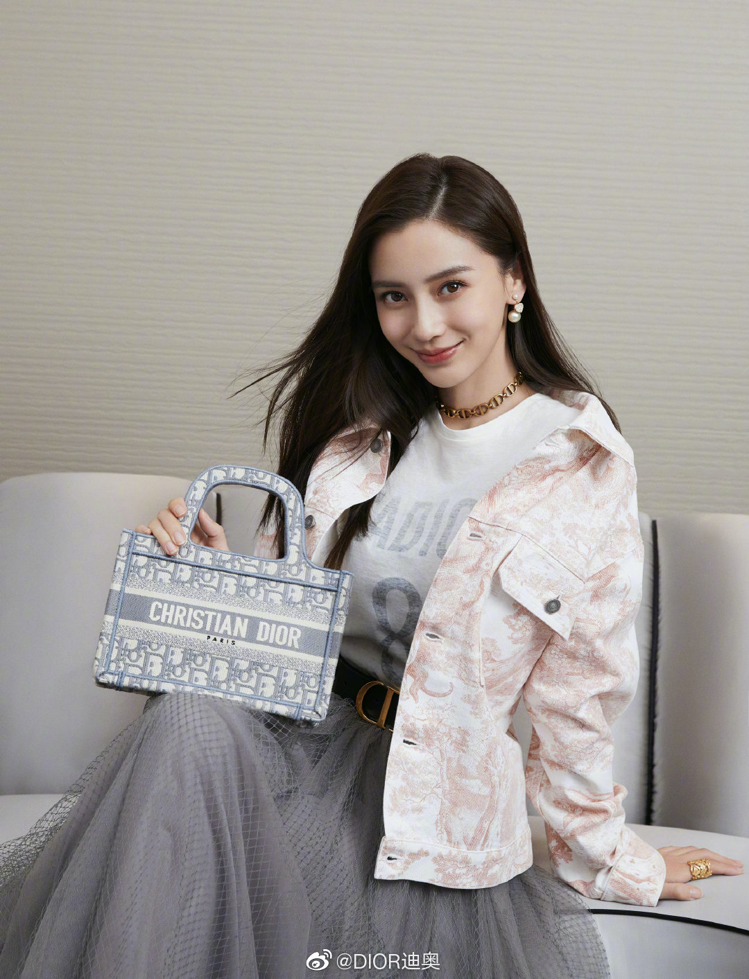 Dior ambassador china Angelababy book tote