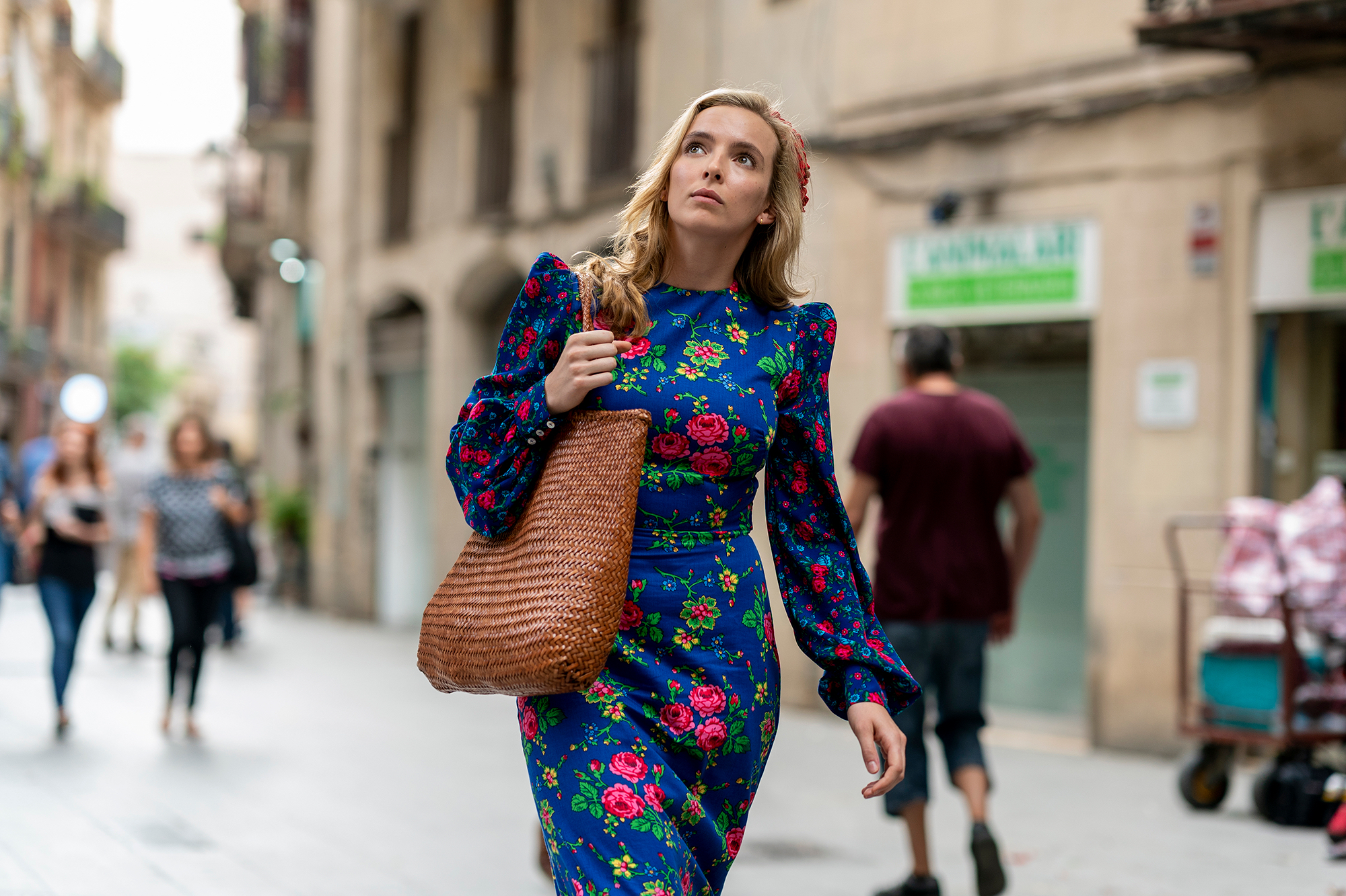 Jodie Comer in Killing Eve on OSN
