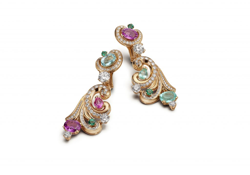 Lady arabesque earrings barocko bvlgari