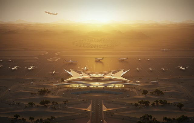 Airport in Saudi Arabia
