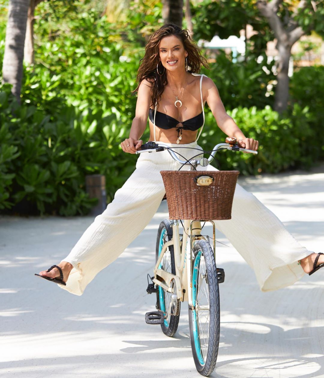 Alessandra Ambrosio Cycling best cities for cycling