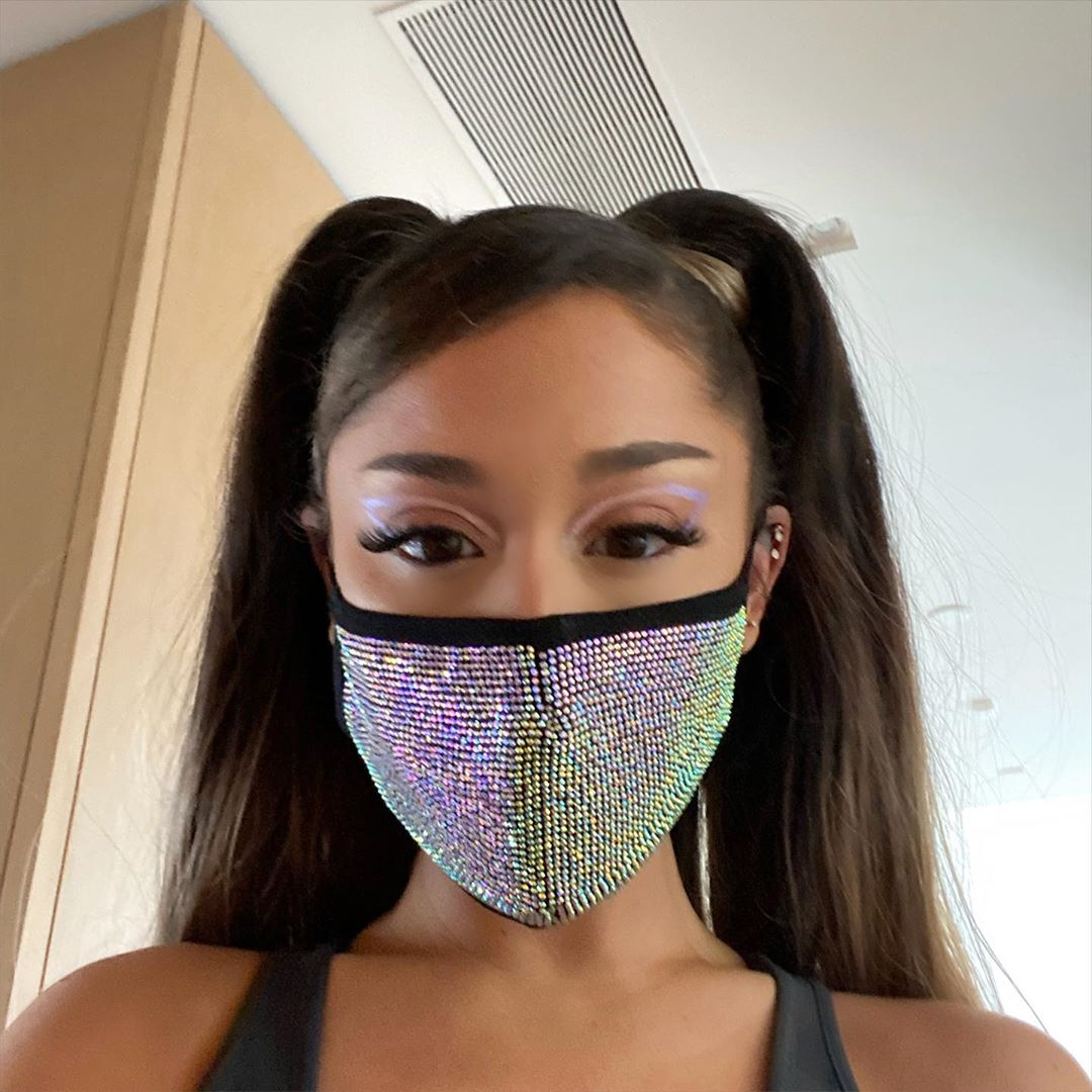 Ariana Grande Sequin Mask - Face Mask