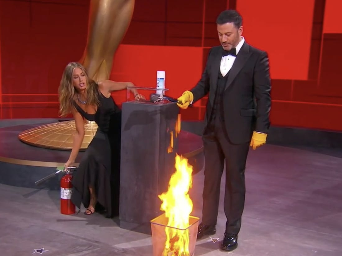 The 2020 Emmys Were on Fire (Literally)