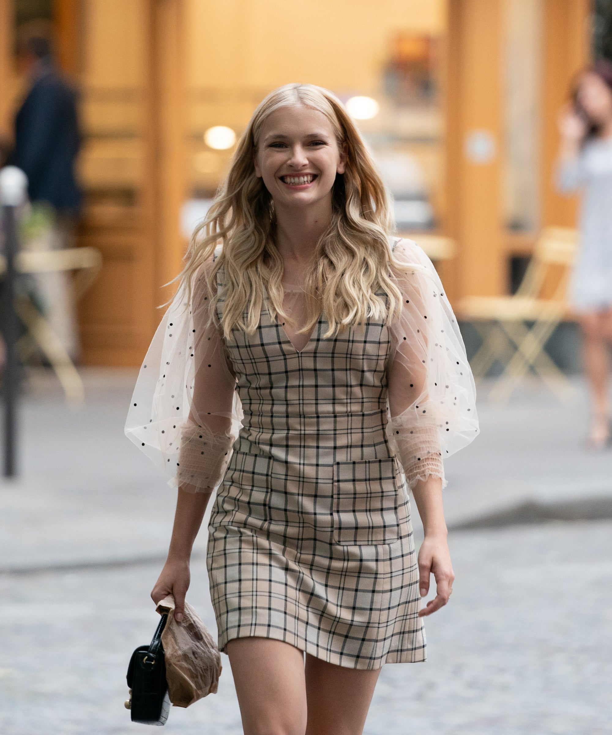 Emily In Paris Camille See by Chloe Woven Check Dress