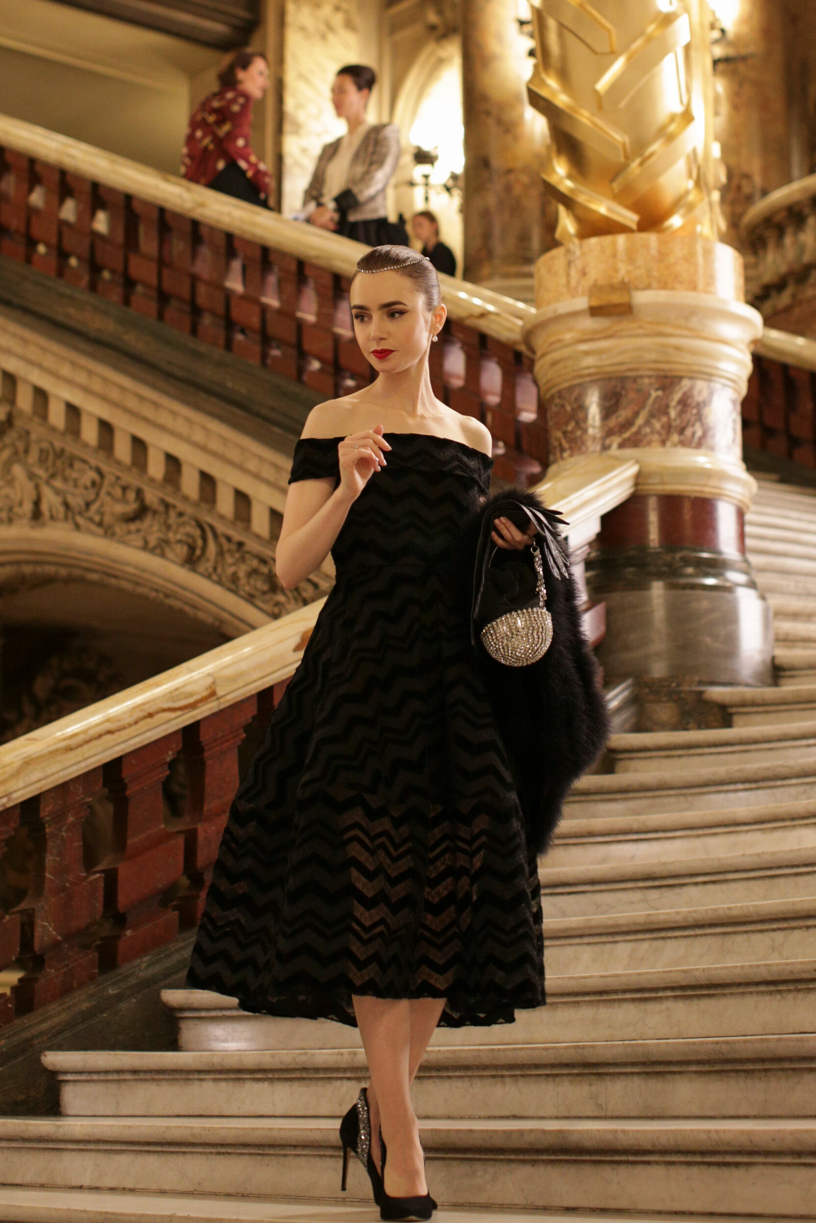 Emily in Paris Lily Collins Christian Siriano Opera Dress