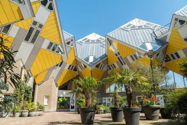 surreal architecture in rotterdam