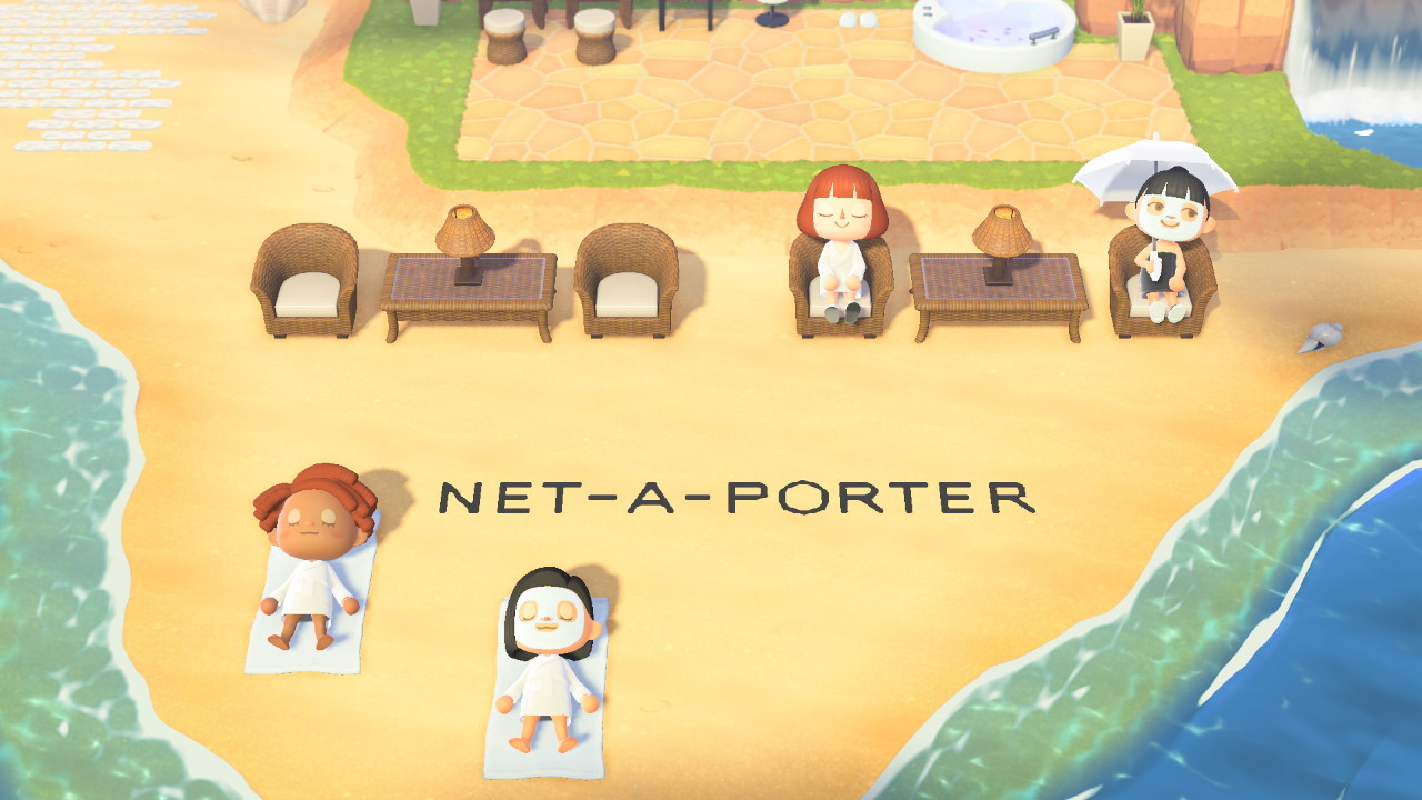 NET-A-PORTER ANIMAL CROSSING ISLAND ON ANIMAL CROSSING_BEACH AREA 2