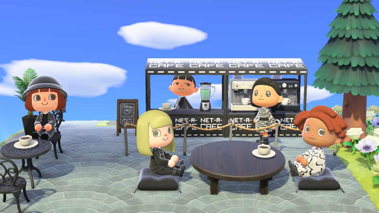 NET-A-PORTER ANIMAL CROSSING ISLAND ON ANIMAL CROSSING_NET-A-CAFE
