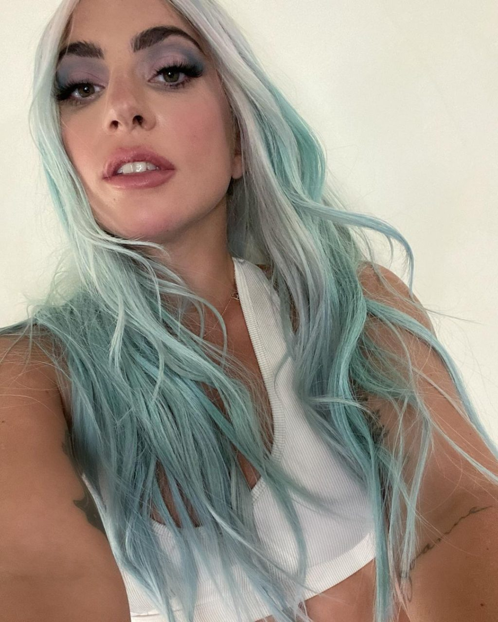biggest beauty moments 2020 rainbow hair lady gaga