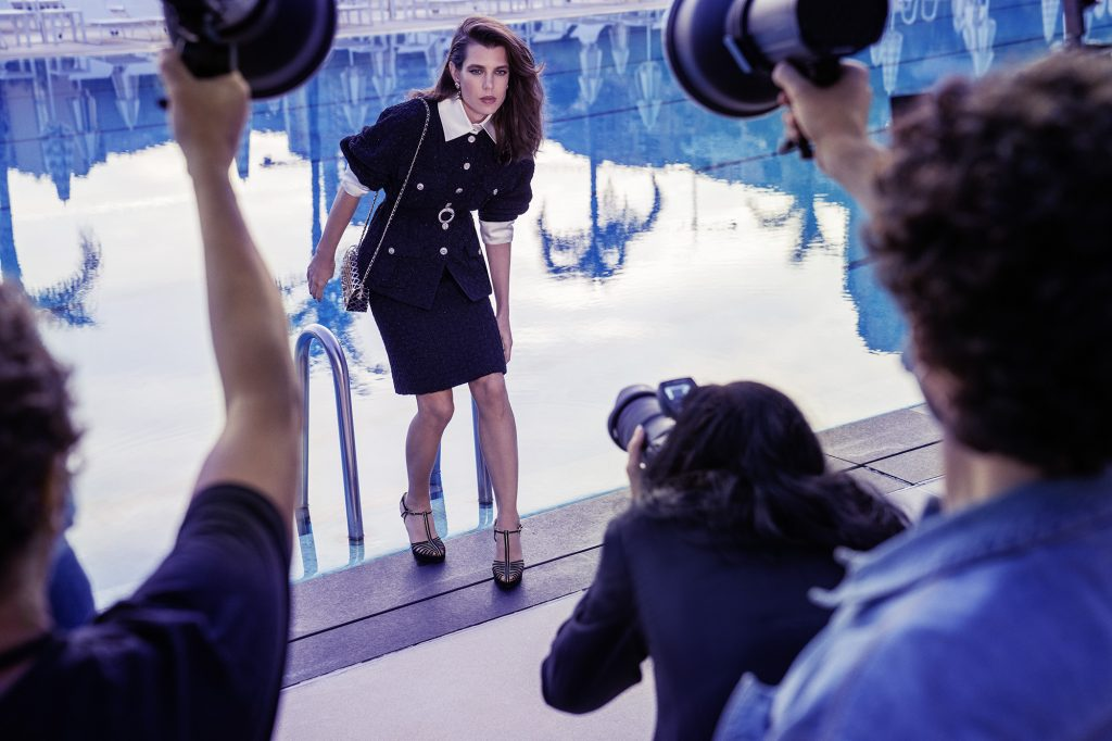 An Exclusive Look at Charlotte Casiraghi Behind-the-Scenes of Her New Chanel Shoot