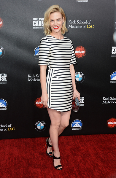 January Jones In Marni - RH West Hollywood The Gallery