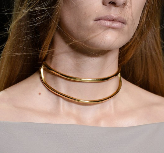 London Fashion Week Coverage: Minimalist Chokers at Marios Schwab