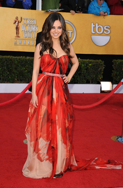 Mila Kunis' Most Memorable Red Carpet Looks